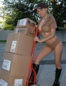 If my delivery person looked like this, I wouldn't care when they showed up