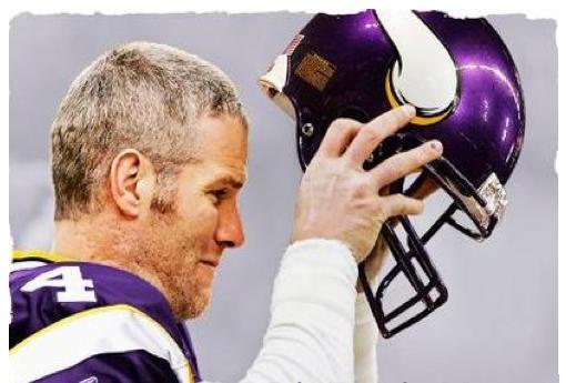 brett favre vikings saints. time Brett Favre takes off